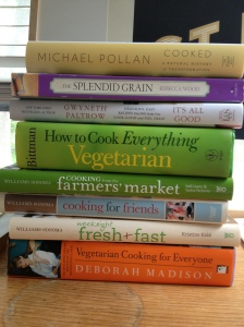 Some of the cookbooks I'm reading these days.